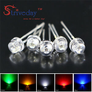 5mm Straw Hat Light emitting Diodes In line Led Water Clear Beam Angle Of 170