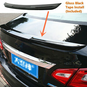 Fit For Nissan Altima 2016 2017 2018 Rear Wing Spoiler Lip Shiny Black Style