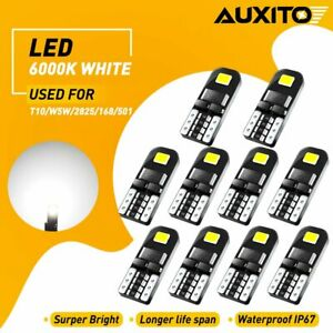 10x 12v T10 194 168 W5w Smd Led Car Hid White Canbus Error Free Wedge Light Bulb