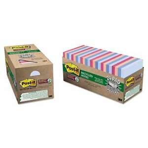 Post it Notes Super Sticky Recycled Notes In Bali Colors 3 X 3 051141911434
