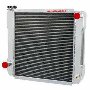 New 2 Row 22 X 19 Universal Crossflow Aluminum Radiator For Ford Chrysler