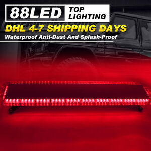 47 88 Led Flashing Lights Bar Emergency Police Warning Response Strobe Lamp Red