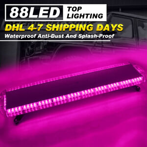 Car Strobe Lights 88 Led Flashing Bar Emergency Warning Hazard Dash Lamps Purple