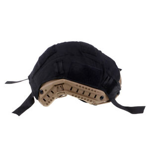 Tactical Army Gear FAST Camo Helmet Accessories Cover without Helmets Black
