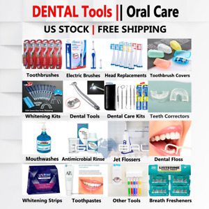 Dental Care Floss Oral B Health Toothbrush Toothpaste Teeth Whitening Strips Lot