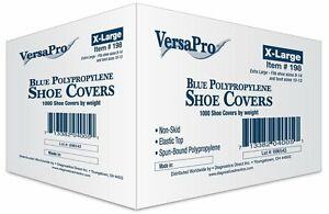 Versapro Disposable Non skid Shoe Covers Blue 1000 case
