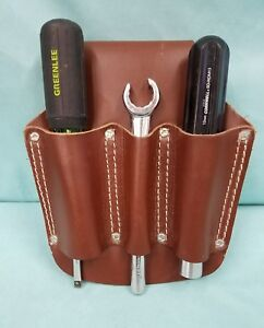 Lot Of 3 Tools Leather Holder Armstrong 4120 Vintage Cornwell Greenlee