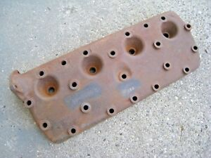 Original 1936 Ford Cast Iron 21 Stud Flathead Cylinder Head 60 6050 B Lh Oem 1