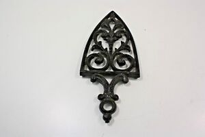 Antique Vintage Cast Iron Trivet Sad Flat Iron Cathedral T 12