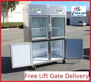 New Commercial Freezer Refrigerator Combo Model Rg32 Restaurant Equipment