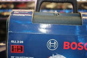 Bosch Gll 2 20 65 ft Laser Chalkline Self Leveling Line Level W Case
