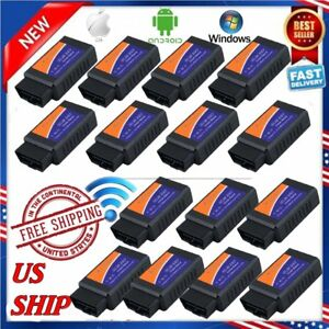 15x Elm327 Wifi Obd2 Obdii Auto Car Diagnostic Scan Tool Scanner For Bmw Ford As