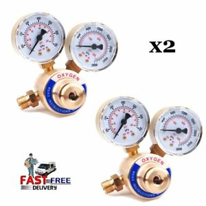 Oxy Oxygen Gas Welding Regulator Pressure Gauge F Victor Type Cutting Cga 540 As