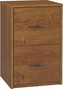 Wood File Cabinet 2 Drawer Storage Organizer Modern Office Furniture Brand New