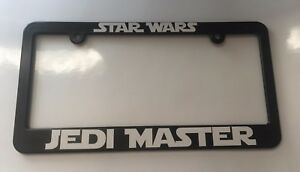 Jedi Master Star Wars License Plate Frame New