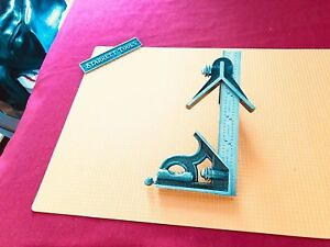 Starrett 6 Inch Long Blade Combination Square With Square Center Heads Usa