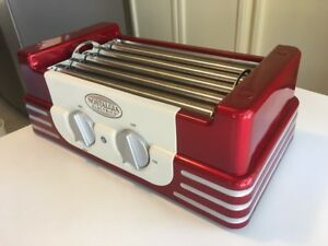 Retro Classic Hot Dog Cooker Maker Roller Electric Grill Machine Bun Warmer New