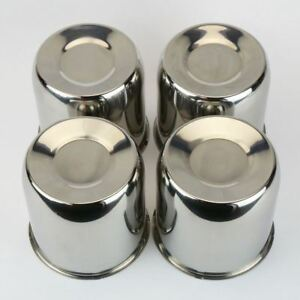 6 Chrome Steel Push Thru Center Caps For Trailer Wheel Rims 4 25 Center Bore