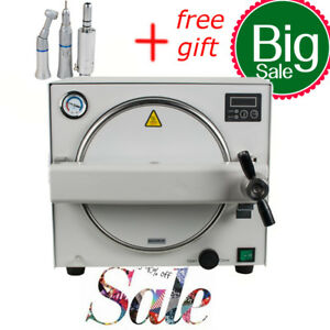 18l Dental Medical Lab 900w Autoclave Steam Sterilizer Sterilizition Handpiece