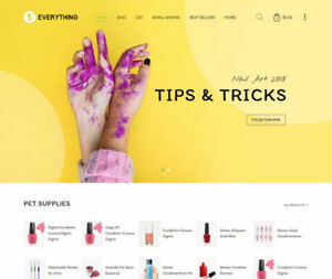 Custom Nail Shop Shopify Dropshipping Store Website Ready In 1 3 Days