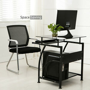 Dakavia Computer Desk Laptop Table Home Office Pc Corner Workstation Black
