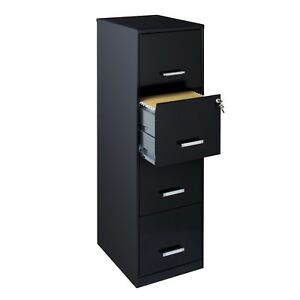 4 Drawer Metal File Cabinet Office Furniture Cabinet Dorm Storage Cabinet 18