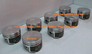 Speed Pro Oldsmobile olds 350 W31 Forged Flat Top Pistons 8 W moly Rings Std