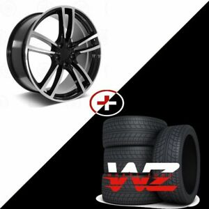 22 5628 Style Machined Black Wheels W Tires Fits Porsche Cayenne