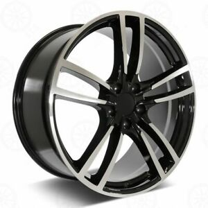 22 Panamera Style Machined Black Wheels Fits Porsche Cayenne
