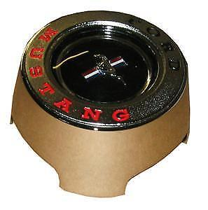 1965 1966 Ford Mustang Wood Steering Wheel Center Cap Cap Assembly