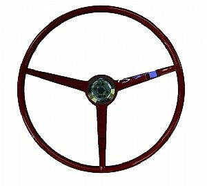 1966 Ford Mustang Steering Wheel Dark Red