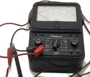 Simpson 260 Series 5 Volt ohm milliammeter With Leads Used