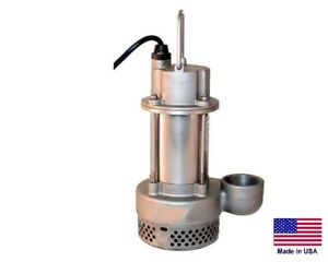 Sump Utility Pump Submersible Stainless Steel 1 2 Hp 115v 3480 Gph