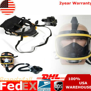Constant Flow Air Supplied Fresh Air Respirator System Full Face Gas Mask Usa