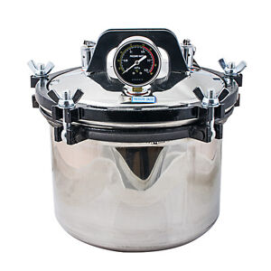 8l Steam Autoclave Sterilizer Pot Dental Lab Equipment 110 220v Stainless Steel