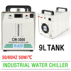 Cw 3000 Industrial Water Chiller 50w For 60 80w Co2 Glass Laser Tube 9l 110v