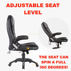 Massaging Office Chair Executive Business Desk Heating Vibrating Function