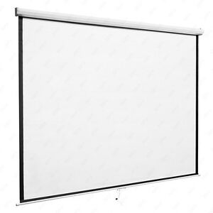 Kenwell Manual Pull Down Projection Screen Matte White Home Hd Movie Theater