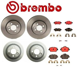 Front Rear Disc Brake Rotors With Pads Sensors Brembo Kit For Cooper R56 R55
