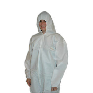 Tyvek Coveralls Hazmat Suit box Of 25 Large New Free Ship
