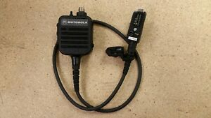 New Motorola Saber Radio Nmn6154b Remote Speaker Microphone W ear Bud Port