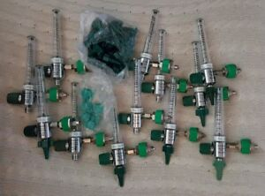 Lot Of 12 Tri tech Medical Oxygen Flow Meters Plus Extra Attachments