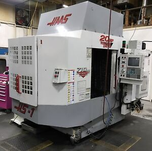 Haas Hs 1rp Horizontal Machining Center Full 4th Gearbox Spindle Coolant