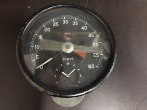 Smiths Tachometer Gauge With Clock For Jaguar Xke Etype Mkii Rv7413 00 Used
