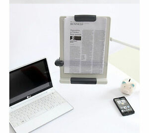 Sale Desk Mount Flexible Arm Copy Holder Book Document Paper Reading Stand