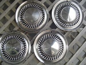 1959 1960 Ford Thunderbird Galaxie Fairlane Hubcaps Wheel Covers Center Caps