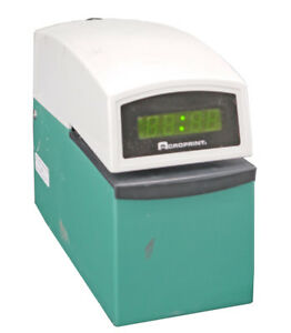 Acroprint 01 6000 001 Etc Digital Display Time Card Stamp Punch Recorder No Keys