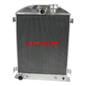 3 Row Aluminum Radiator For Ford Model A Grill Shells V8 Engine 1928 29 30 31