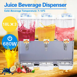 Dakavia 680w Commercial 3 Tank Juice Beverage Dispenser Cold Drink Jet Spray