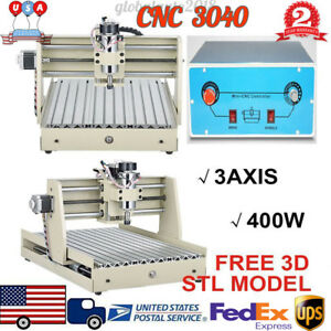 3 Axis 400w 3040 Cnc Router Engraving Machine Drill Cutter 57 Two phase 1 8a